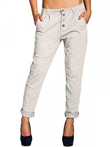 CASPAR KHS027 Pantalon chino en coton gris clair