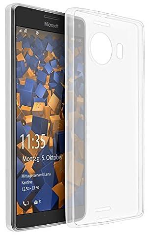 mumbi Schutzhülle für Microsoft Lumia 950 XL Hülle transparent (Ultra