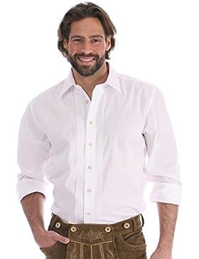 Almsach Trachtenhemd Klassiker Hemdkragen Ascan Weiss