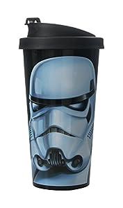 Star Wars 30400005 - Vaso antigoteo con diseño Stormtrooper, color negro