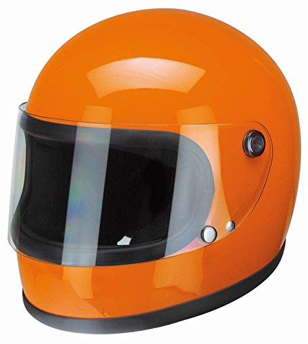 Redbike 74-Naranja Casco Moto Casco Integral Retro
