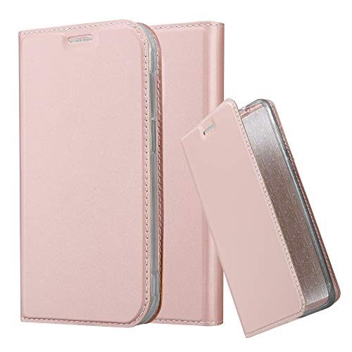 6b4b1b62aa1 Cadorabo Funda Libro para Samsung Galaxy S5 Active en Classy Oro Rosa -  Cubierta Proteccíon con