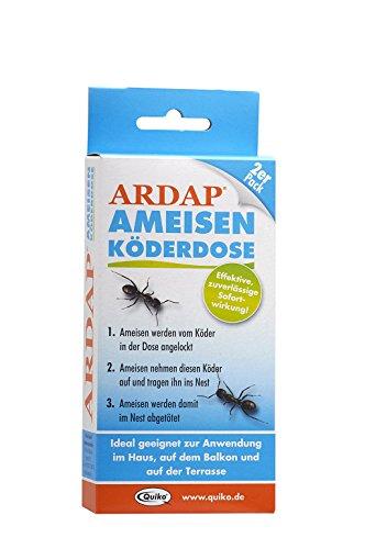 ARDAP Ameisen Köderdose - Köderstoffe speziell für die Bekämpfung von Ameisen & anderem Ungeziefer im Innen- und Außenbereich - 2er Pack