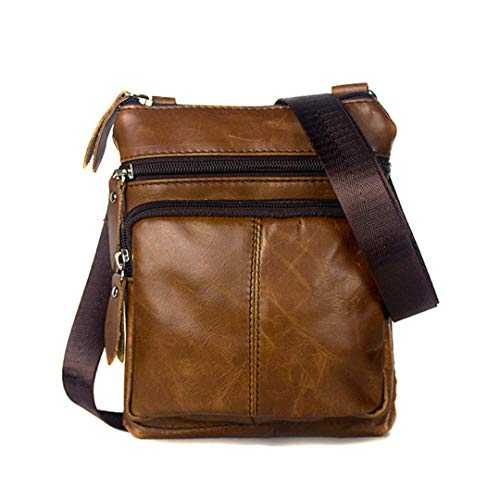 Kleine Messenger Bags männer Frauen Tasche Leder