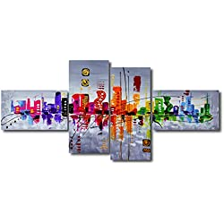 160 x 70 cm cuadro en lienzo abstracto 6515-SCT– imagen/impresion/pintura listo para colgar