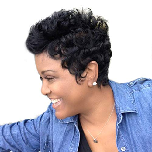 Synthetische Perücke Haar, Frauen Mode Kurze Lockige Welle Charming Volle Perücke Cosplay Party Haarteil Geschenk