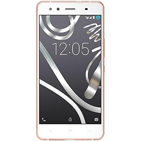BQ Aquaris X5 - Smartphone de 5 pulgadas (4G, LTE WiFi 802.11, Bluetooth 4.0, GPS y Glonass, 2 GB de RAM, memoria interna de 16 GB), blanco, rosa y oro