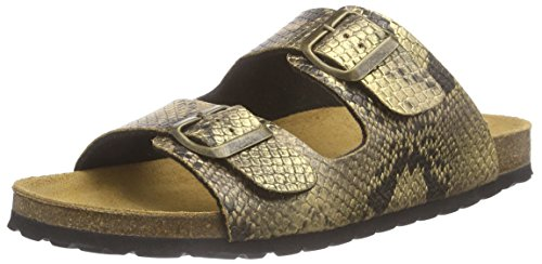 Gabor Home 100050bof, Sandales  Bout ouvert femme Or - Gold (lame oro)