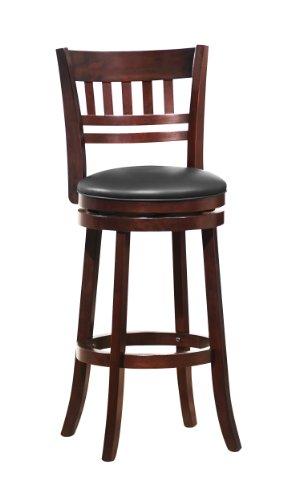 Homelegance Edmond Swivel Pub Chair w/ Ladder/Slat Back [Set of 2]