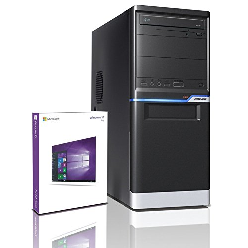 Shinobee Home Office PC Student Computer Tower Quad Core Windows 10 Pro / AMD A8-5545M 4x 2.7 GHz / 8GB DDR3 / 1TB HDD / 4 GB Radeon 8510G / DVD±RW Burner / Free Office Suite #5243