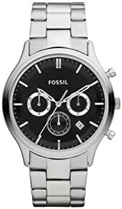 Fossil End of Season Ansel Chronograph Black Dial Men's Watch - FS4642