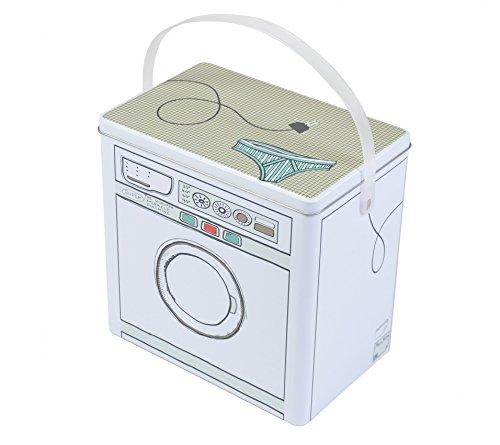 Waschmittelbox Metall Waschpulverbox Behälter Waschmittelbehälter Dose Büchse (Metall-waschmittel-behälter)