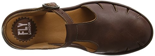FLY London JARY645FLY, Sandales Compensées femme Marron - Marron (clair)