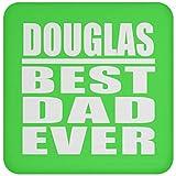 Douglas Best Dad Ever - Drink Coaster Kelly/One Size, Untersetzer Bierdeckel Rutschsicher Kork Korkunterschicht