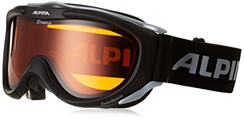 Alpina Skibrille FreeSpirit, schwarz transparent dlh (black transparent dlh), One size, A7008-131 (Schwarz Jugend Skibrille)