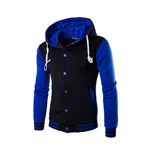 BQGHUA Herren Hoodie Baseball Jacke Herren Fashion Design Schwarz Herren Slim Fit Uni JackeStylish College