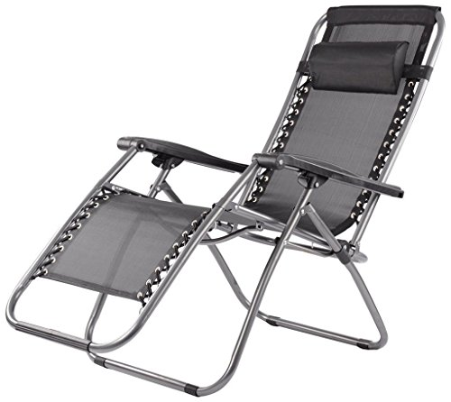 Elecktra Zero Gravity Comfort Relax Recliner Chair, Folding Chair Cum Bed- Black