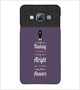 Printdhaba Quote D-3717 Back Case Cover For Samsung Galaxy A3