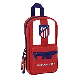 41w2hDD%2BrLL. SS324  - Safta Neceser Con 4 Estuches y útiles Atlético De Madrid Oficial 120x50x230mm
