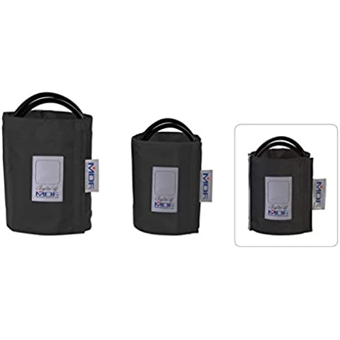 MDF® Adulti - Doppio tubo - Anello Dbracciale per la rilevazione della pressione senza latex - Nero (MDF2100450D-11)