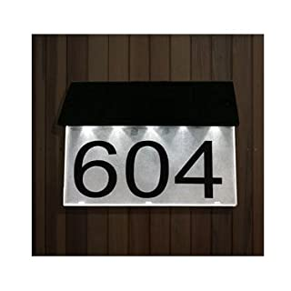 Acrylic Master LED Solar House Number Sign