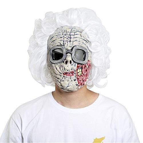 Anführer Kostüm Mädchen - JNKDSGF HorrormaskeScary Latex Alte Frauen Mädchen Party Cosplay Party Maske Sexy Lockiges Haar Karneval Maske Halloween-x10042
