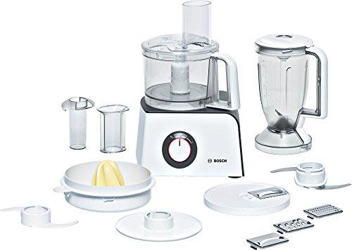 Bosch MCM4100 - Robot de cocina, 800 W, capacidad de 1,25 l, dos niveles de velocidad, color blanco