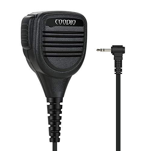 COODIO Motorola TLKR Radio Micro Haut-Parleur Déporté 1-Pin Supérieur [IP54 Imperméable] Microphone [3,5mm Prise écouteur] pour Motorola TLKR Talkie Walkie Radio