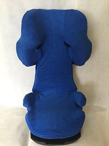Sommerbezug Schonbezug für Cybex Solution X, X2, X-Fix,X2-Fix Frottee 100% Baumwolle blau
