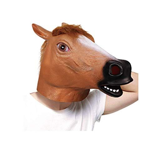 Colorear : Márron De látex ecológico de alta clidad ,Hecho por la molezu. Producto: Máscara de látex la cabeza caballo. Seguridad:los detalle de látex natural 100%.no tóxico. ¿Que es molezu? Los somos fabricantes profesionales y experimentados de lát...
