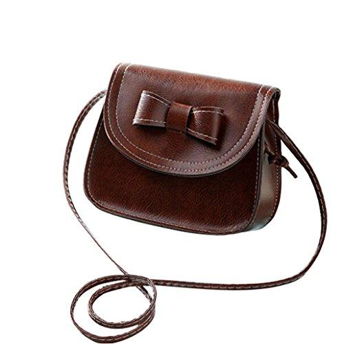 Transer Women Shoulder Bag Popular Girls Hand Bag Ladies PU Leather Handbag, Borsa a spalla donna Multicolore Green 17cm(L)*16(H)*7cm(W), Pink (Multicolore) - CQQ60901349 Coffee