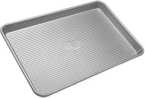 USA Pan Bakeware Half Sheet Pan, Warp Resistant Nonstick Baking Pan, Made in the USA from Aluminized