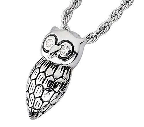 SaySure- Punk Rock Night Owl Pendant Necklace Chain (Night Owl Cosplay)
