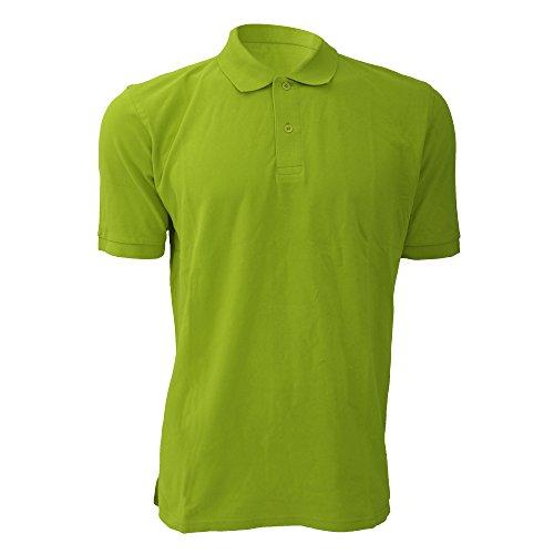 Jerzees Colours Herren Polo-Shirt, Kurzarm Limonengrün