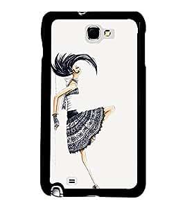 Fiobs Designer Back Case Cover for Samsung Galaxy Note 2 :: Samsung Galaxy Note Ii N7100 (Awards Ar Artistic Owl Birld Dance Singer)