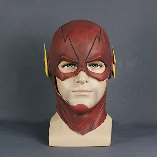 Die Flash-Maske Dc Barry Allen Maske Cosplay Kostüm Prop Halloween Rot Voller Kopf Latex Party Masken Erwachsene