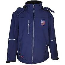 Atlético de Madrid Cazadora con Capucha Azul Marino - Personalizable con 4 Iniciales - Producto Oficial
