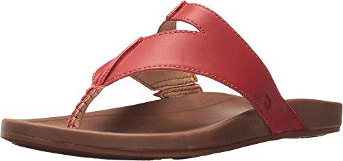 OLUKAI New Women's Lala Thong Sandal Paprika/Tan 7 -