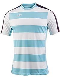 Joma Granada Camiseta Manga Corta, Hombre, Blanco/Azul Marino, S
