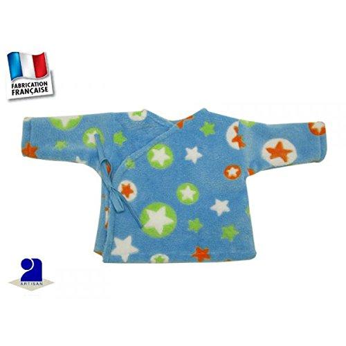 Poussin bleu - Brassière polaire à poils longs, ciel imprimé étoiles Taille - 60 cm 3 mois, Couleur - Multicolore