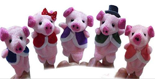 (Yannay Handpuppen Geschichtenerzählen fünf Schwein Fingerpuppen Kinderlied Märchen Spielzeug Kinder Geschenk vorhanden)