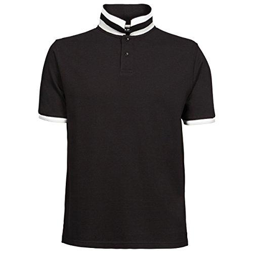 Tee Jays Herren Club Polo-Shirt, Kurzarm Schwarz