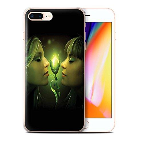 Offiziell Elena Dudina Hülle / Case für Apple iPhone 8 Plus / Getrocknete Blätter Muster / Liebe Kunst Kollektion Freundschaft