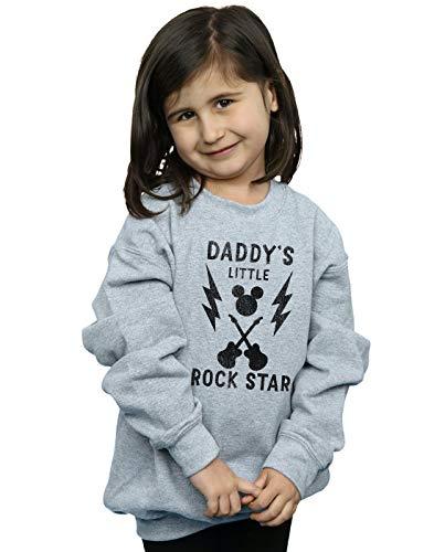 Disney Mädchen Mickey Mouse Daddy's Rock Star Sweatshirt 12-13 Years Sport Grey