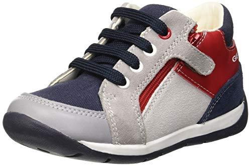 Geox Baby Jungen B Each Boy B Sneaker, Grau (Grey/Navy C0665), 24 EU
