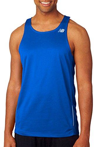 NEW BALANCE hommes Tempo T-shirt de course à pied pour femme bleu marine