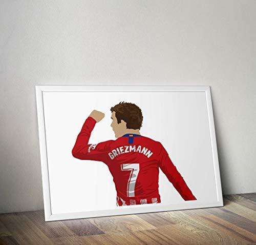Antoine Griezmann inspirierte Poster - Zitat - Alternative Sport/Fußball Prints in verschiedenen Größen (Rahmen nicht im Lieferumfang enthalten) (Spanisch In Größe)