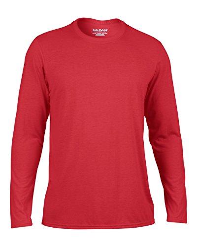 Gildan Performance T-Shirt mit langen Ärmeln, GD121 Rot - Rot