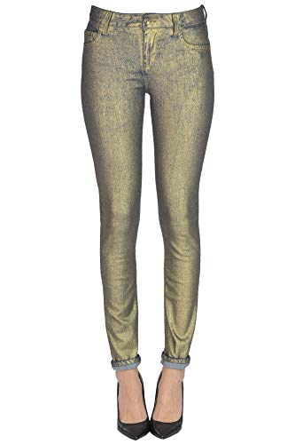 Liu Jo Luxury Fashion Damen MCGLDNM000006009I Gold Jeans | Jahreszeit Outlet