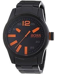 BOSS Orange Herren-Armbanduhr XL Paris Analog Quarz Edelstahl beschichtet 1513051